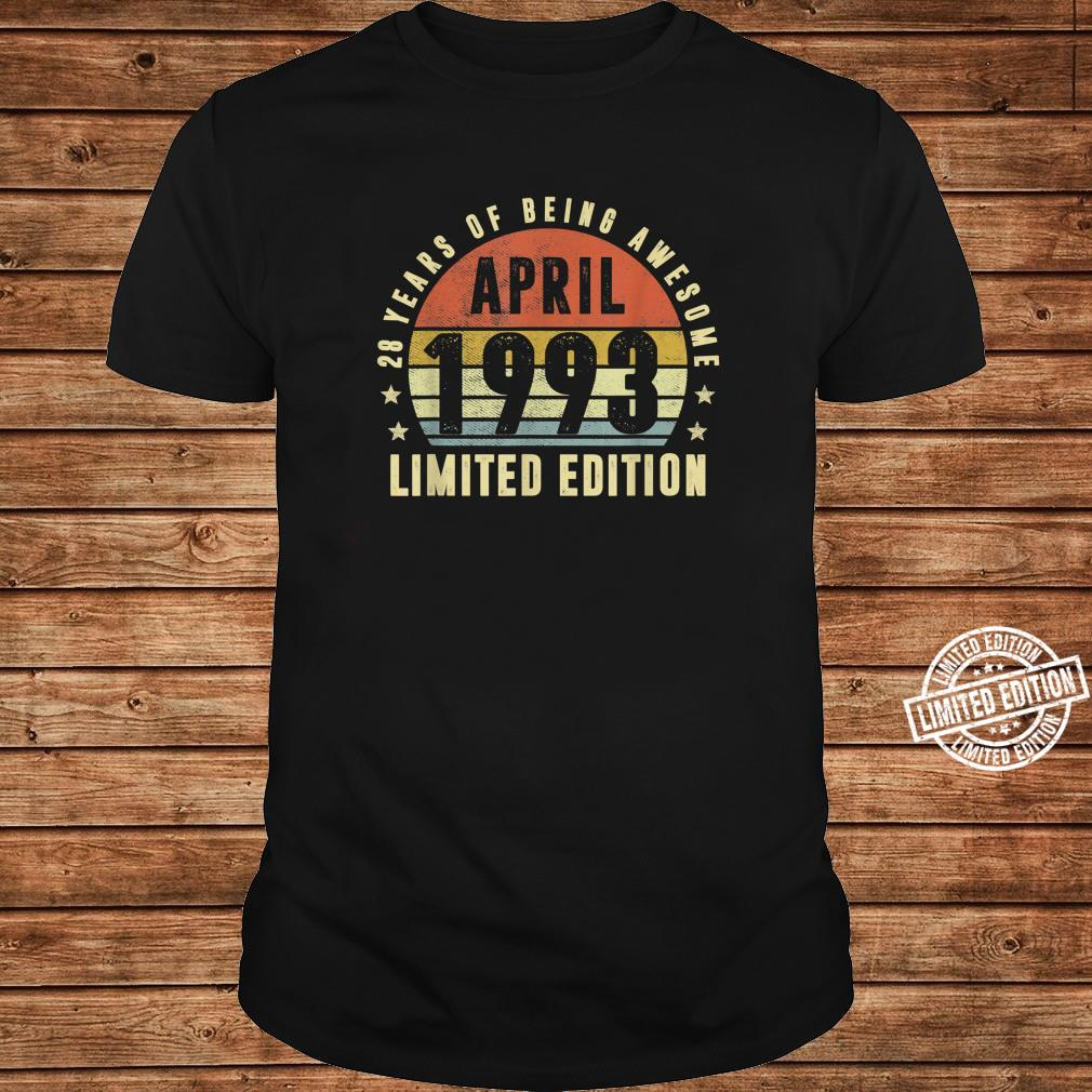 28 Year Old April 1993 Limited Edition Best Of 1993 Shirt long sleeved