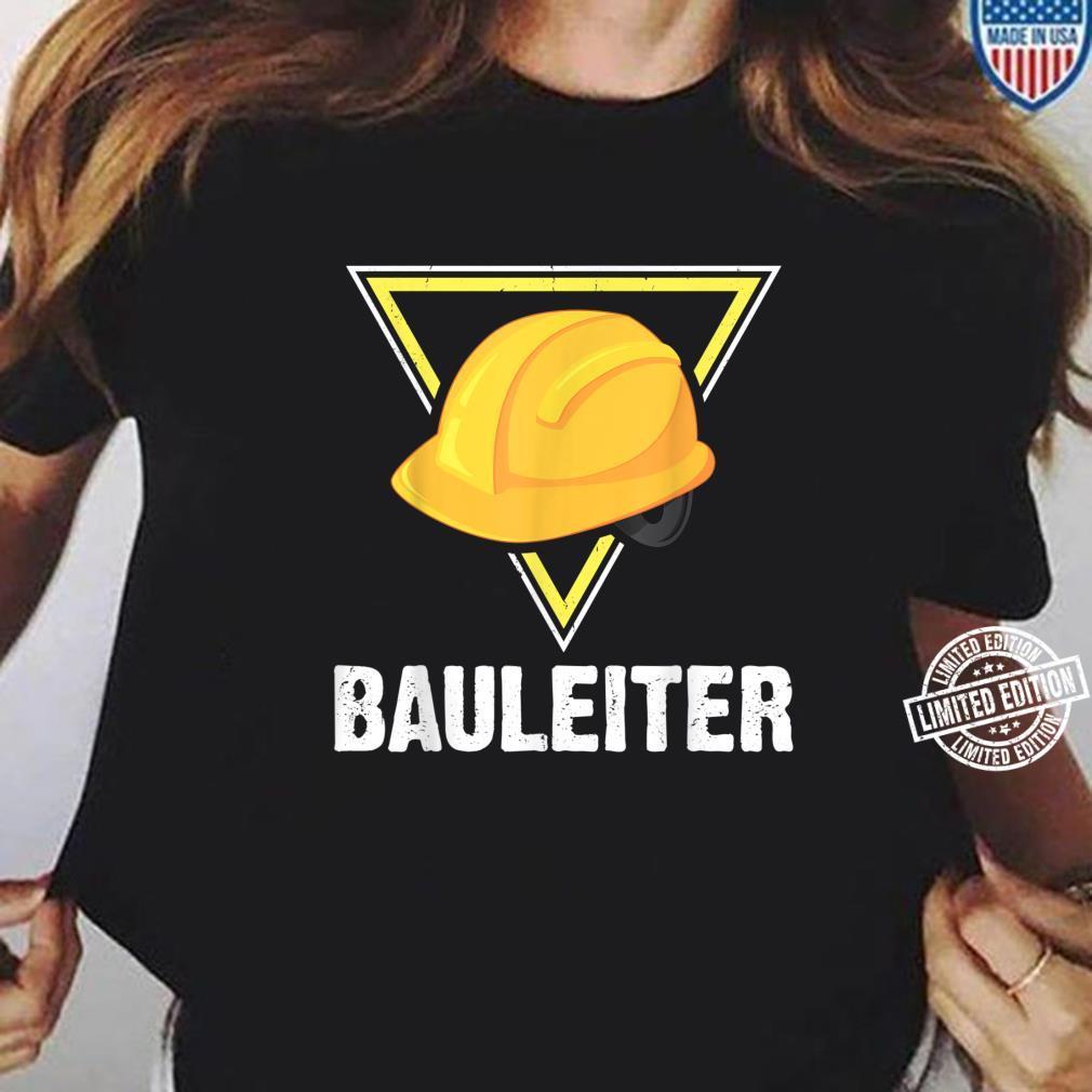 Bauleiter Bauarbeiter Kostüm Bauaurbeiterhelm Helm Shirt ladies tee