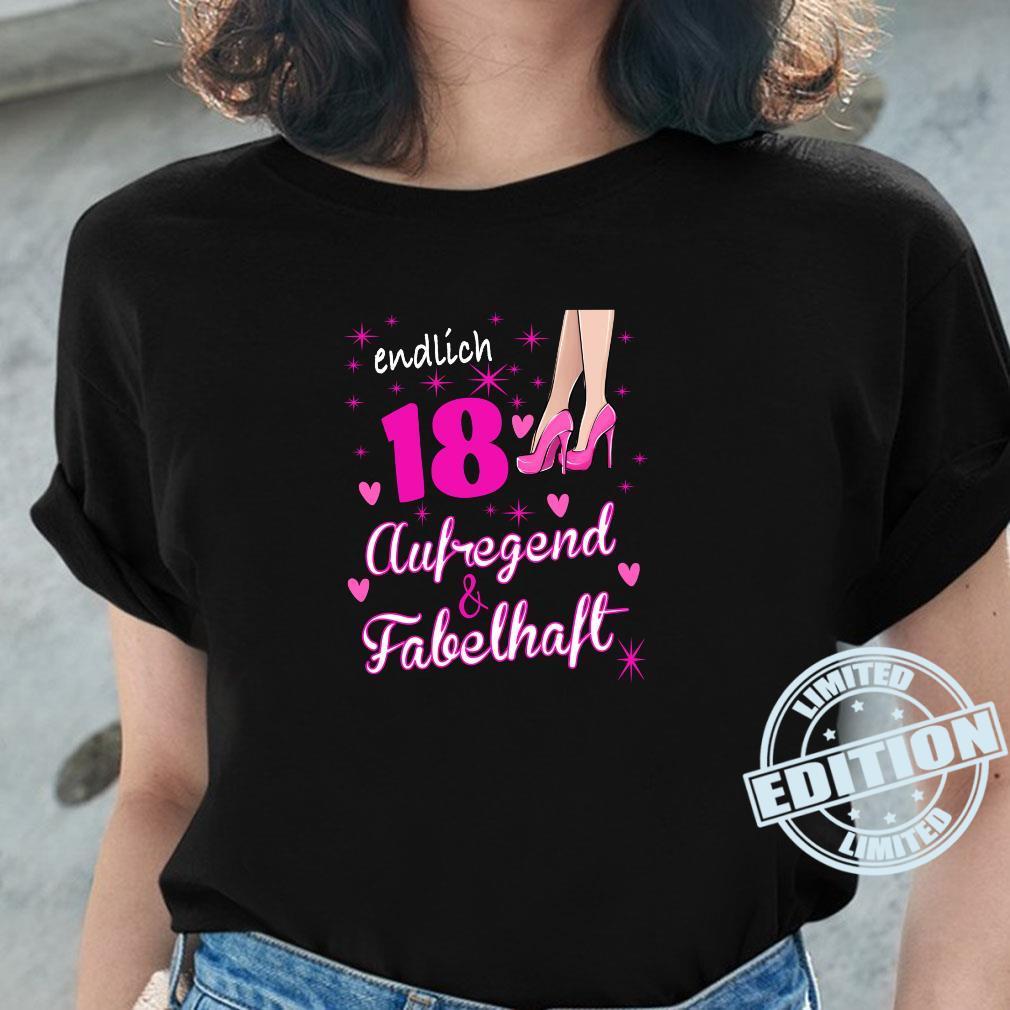 Damen 18. Geburtstag Frau 18 Jahre Und Fabelhaft aufregend Shirt ladies tee