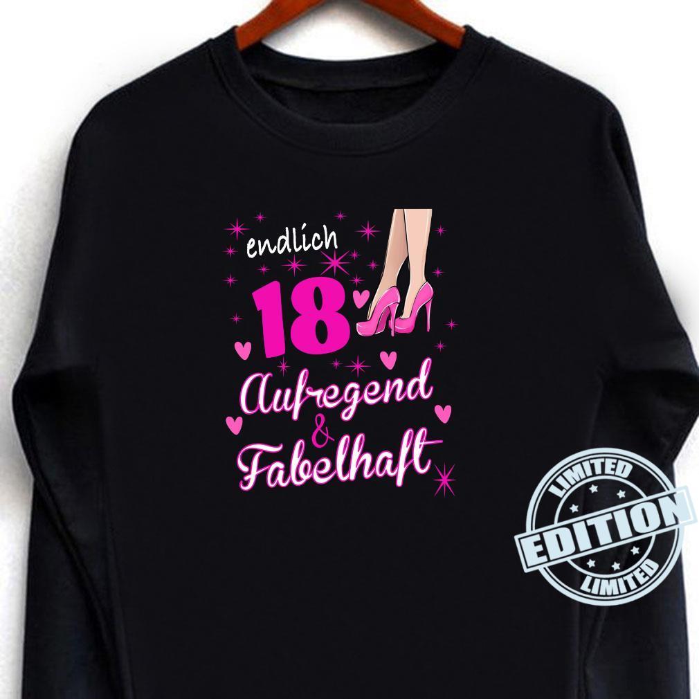 Damen 18. Geburtstag Frau 18 Jahre Und Fabelhaft aufregend Shirt long sleeved