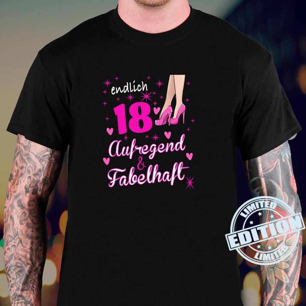 Damen 18. Geburtstag Frau 18 Jahre Und Fabelhaft aufregend Shirt sweater