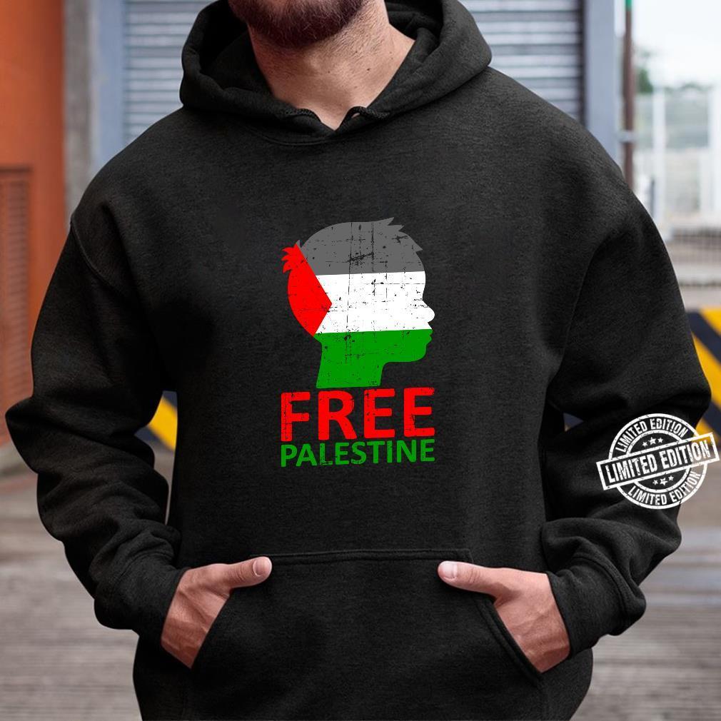 PALESTINE FLAG VINTAGE LANGARM T-SHIRT Free Arafat Gaza Fahne Flagge Palästina