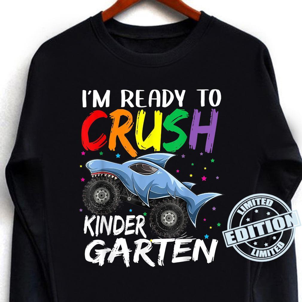 I'm Ready To Crush Kindergarten Monster Truck Back To School Shirt long sleeved