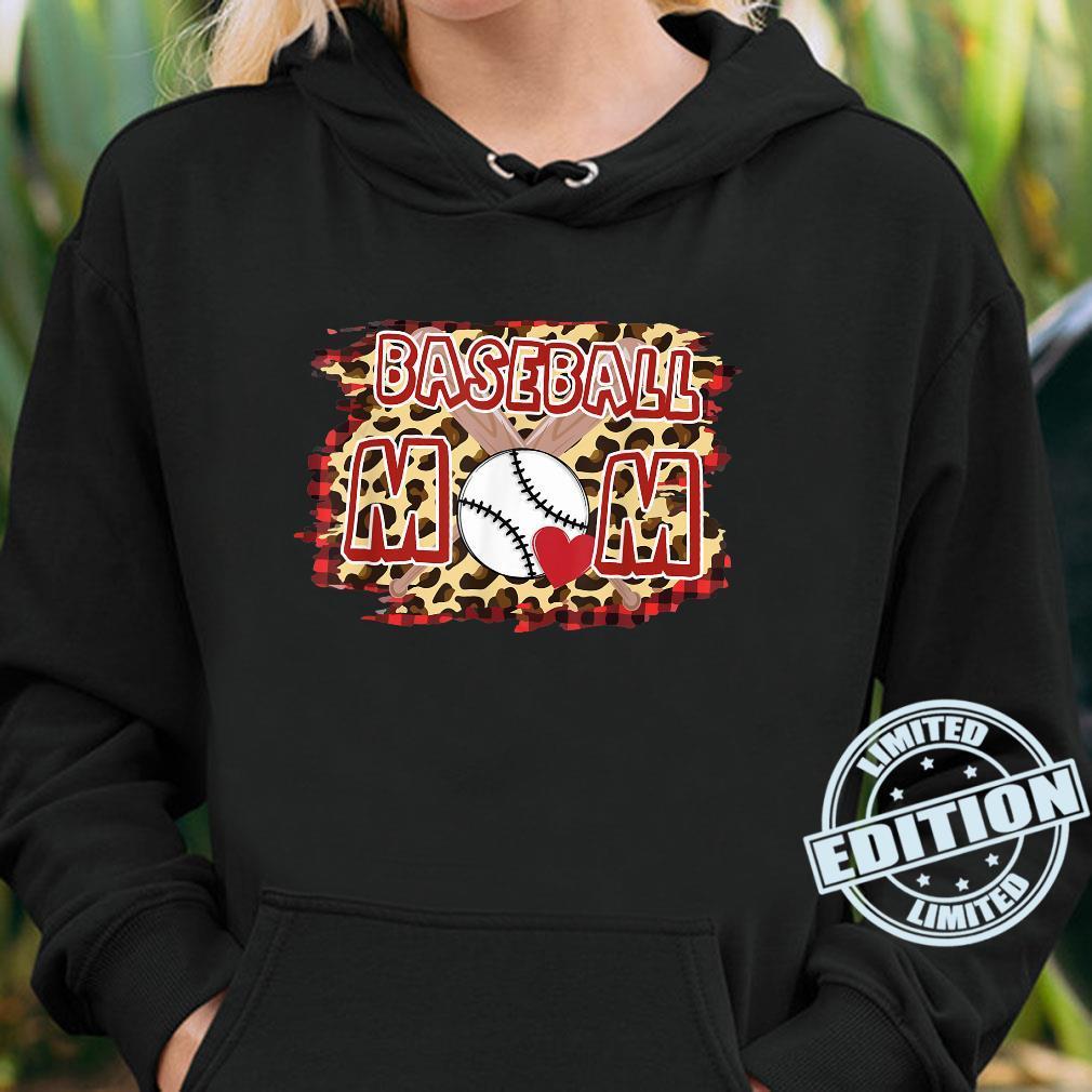 Leopard Baseball Mom Shirt hoodie