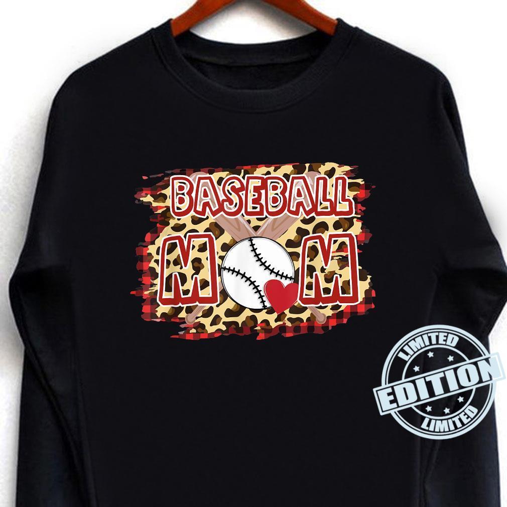 Leopard Baseball Mom Shirt long sleeved