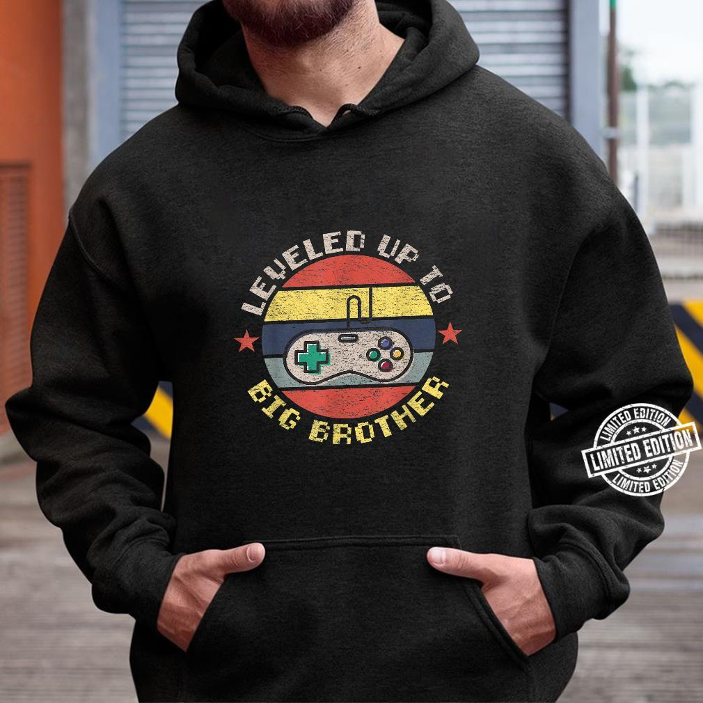 Leveled up to Big Brother, Promoted to Leveling Up Big Bro Shirt hoodie