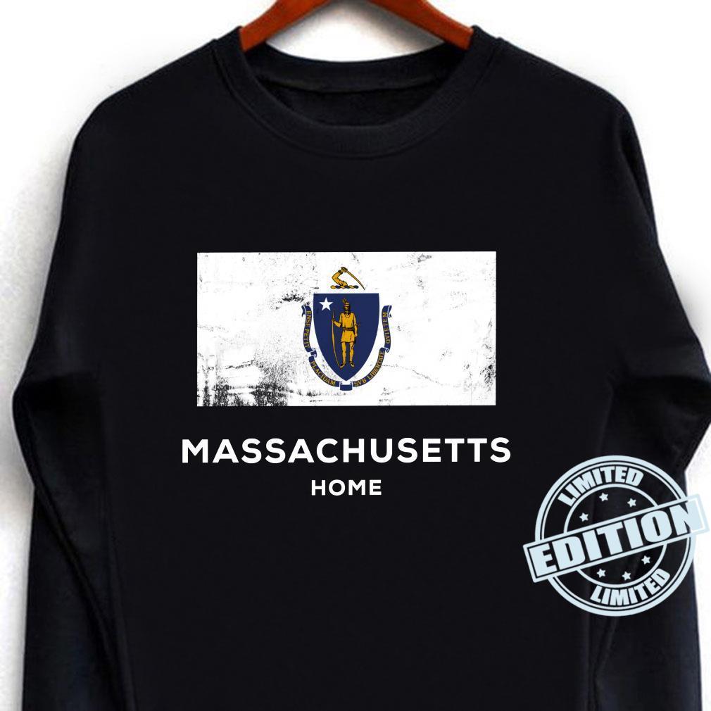Massachusetts United States Flag Home Pride Shirt long sleeved