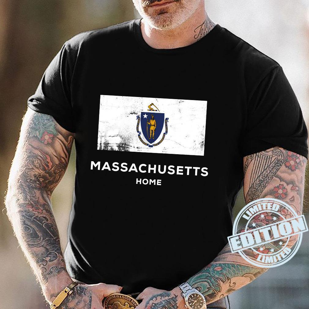 Massachusetts United States Flag Home Pride Shirt