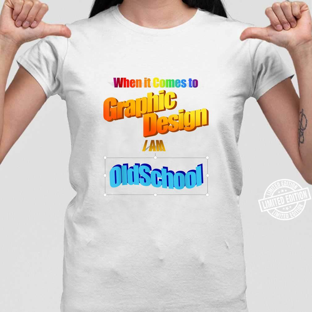 Old School Retro Graphics Designer Shirt ladies tee