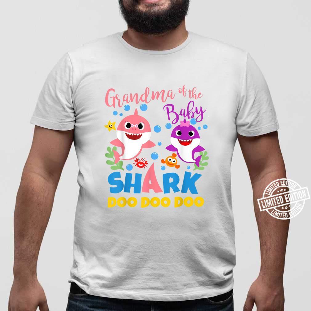 Oma des Baby Shark Boy Blau Rosa Familiengeschenk Doo Doo Shirt sweater
