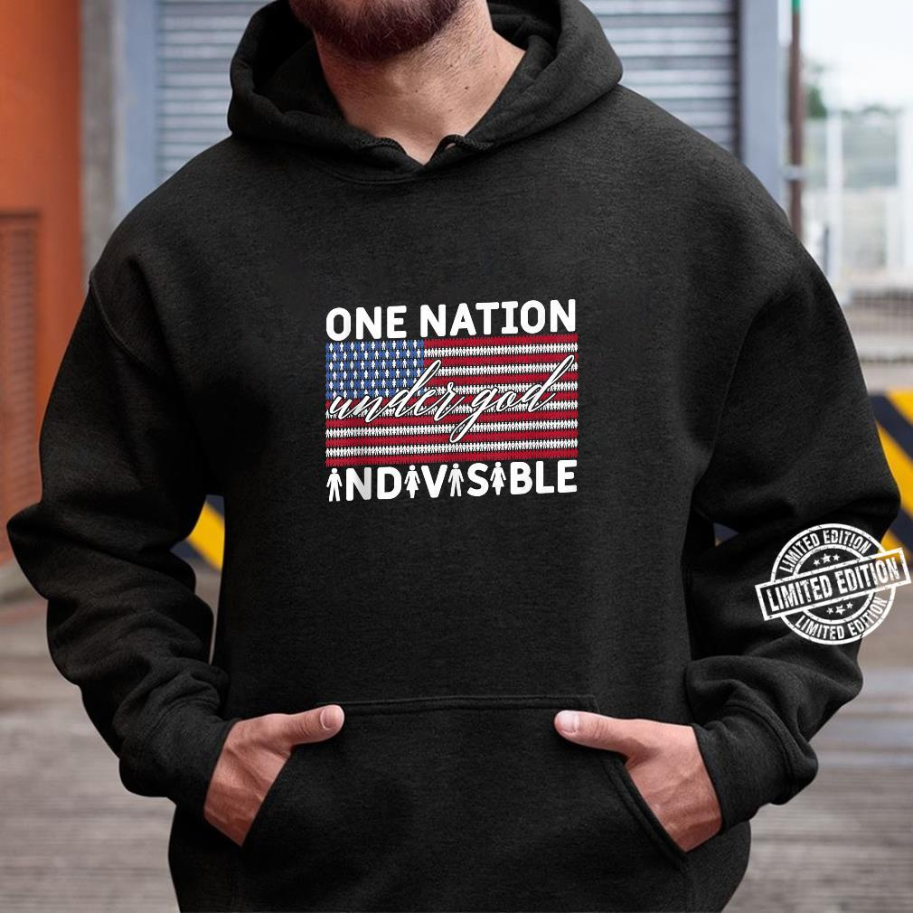 One Nation Under God Indivisible Pledge of Allegiance USA Shirt hoodie