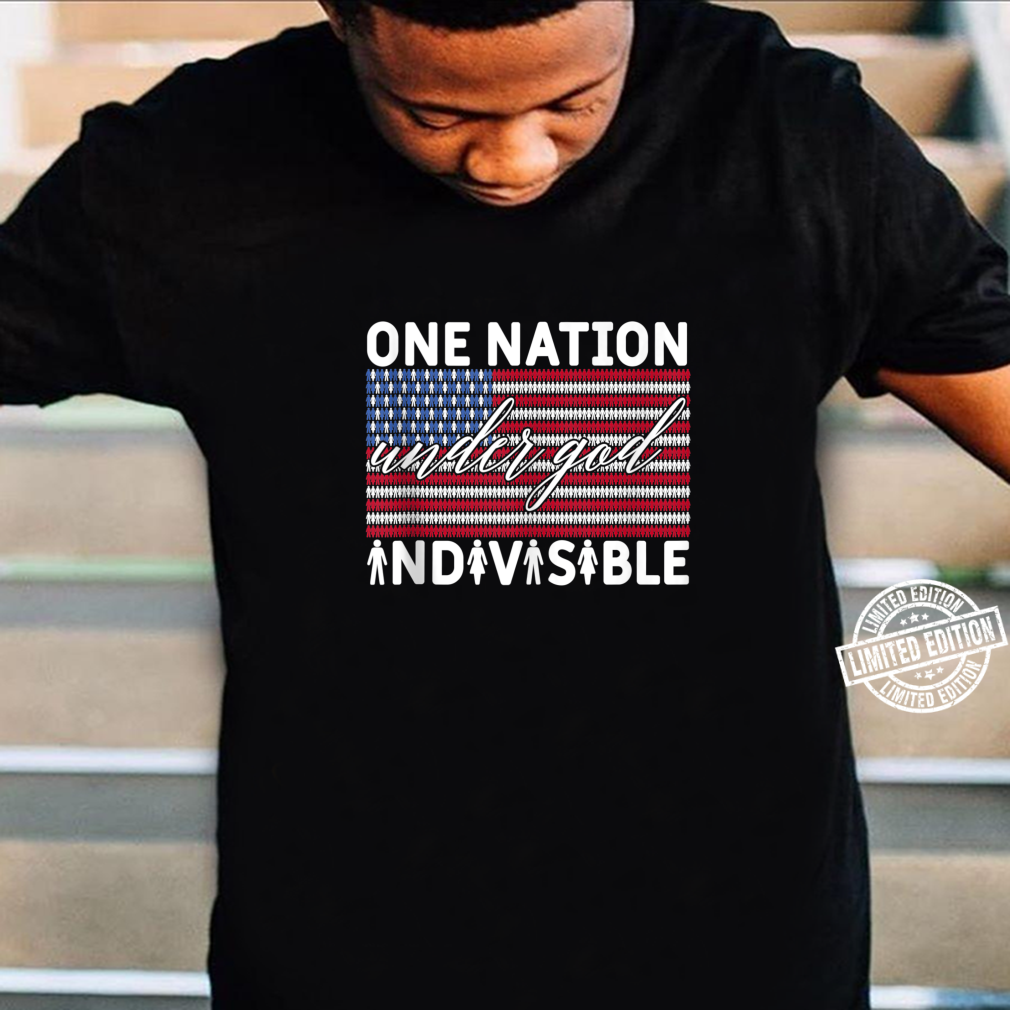 One Nation Under God Indivisible Pledge of Allegiance USA Shirt