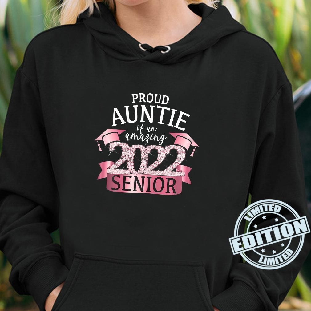 Proud Auntie of a 2022 Senior School Color Pink Black Decor Shirt hoodie