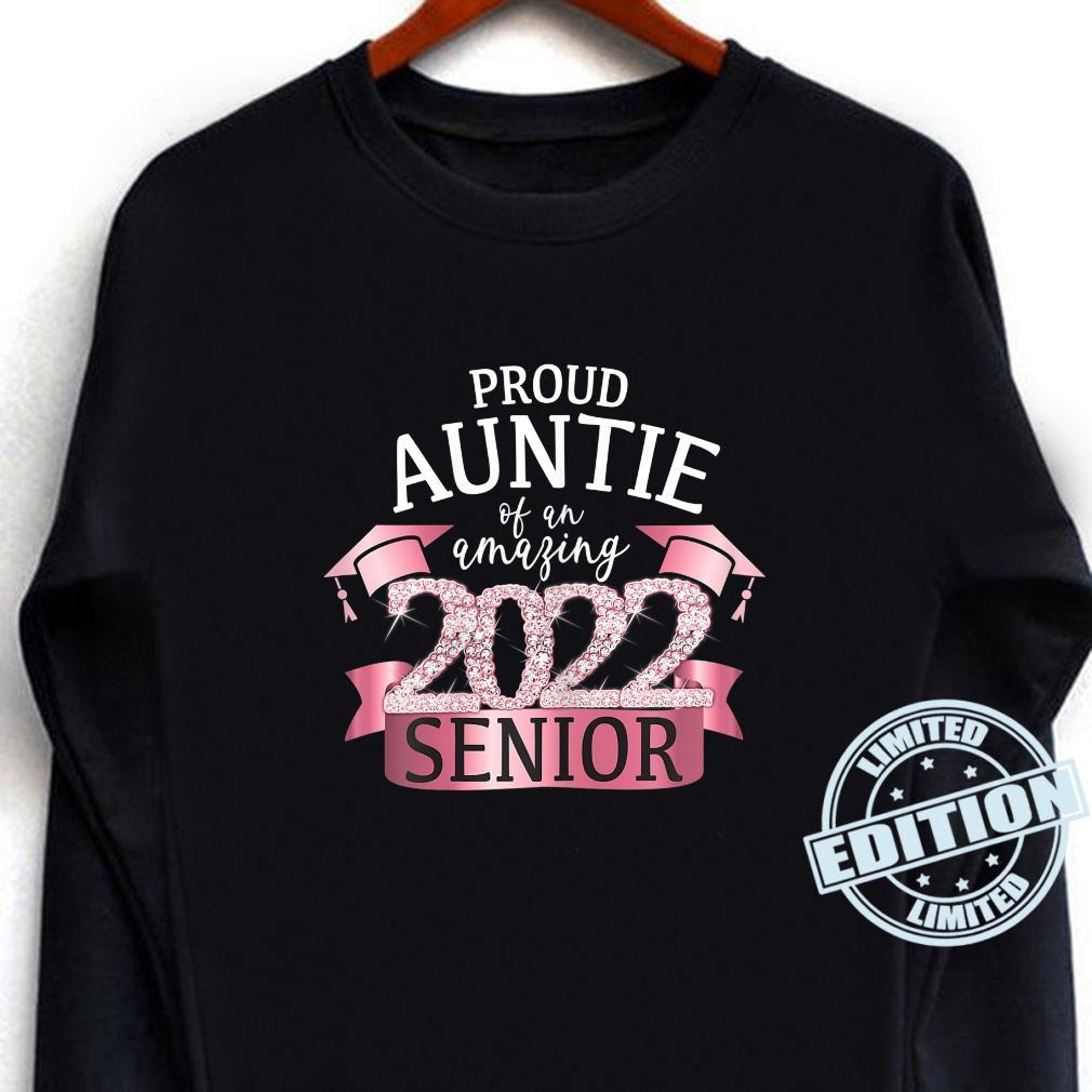 Proud Auntie of a 2022 Senior School Color Pink Black Decor Shirt long sleeved