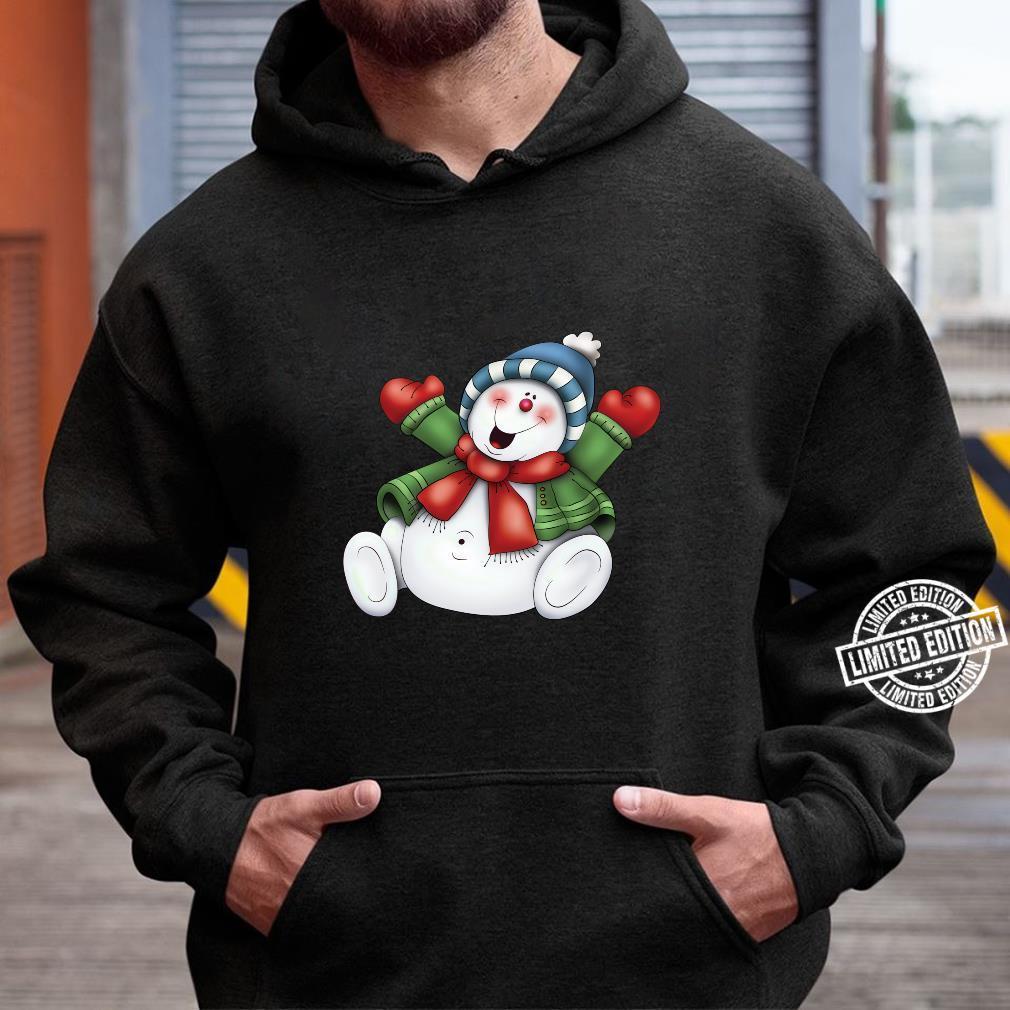 Schneemann niedlich frostig bleiben cool Urlaub Weihnachten Shirt hoodie