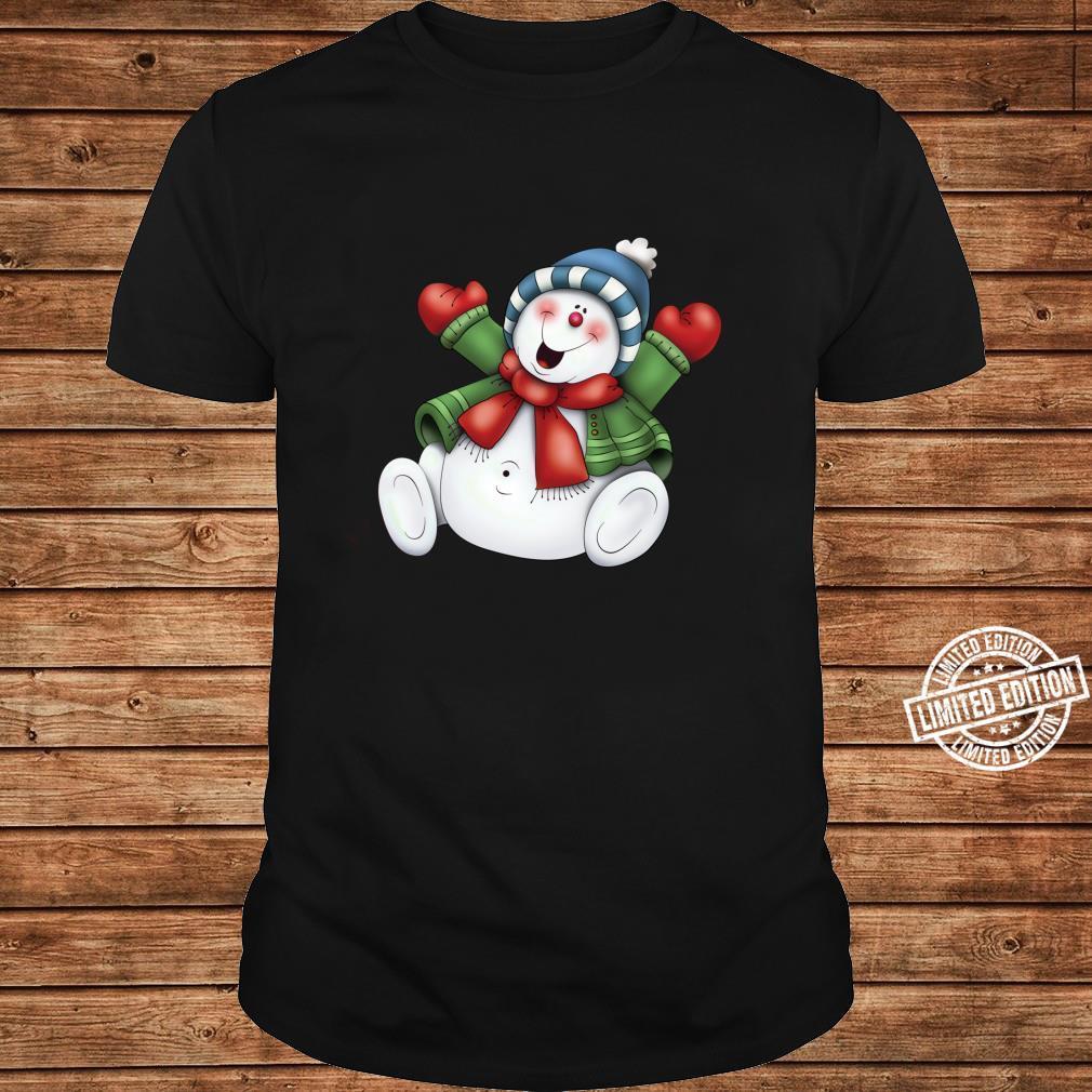 Schneemann niedlich frostig bleiben cool Urlaub Weihnachten Shirt long sleeved