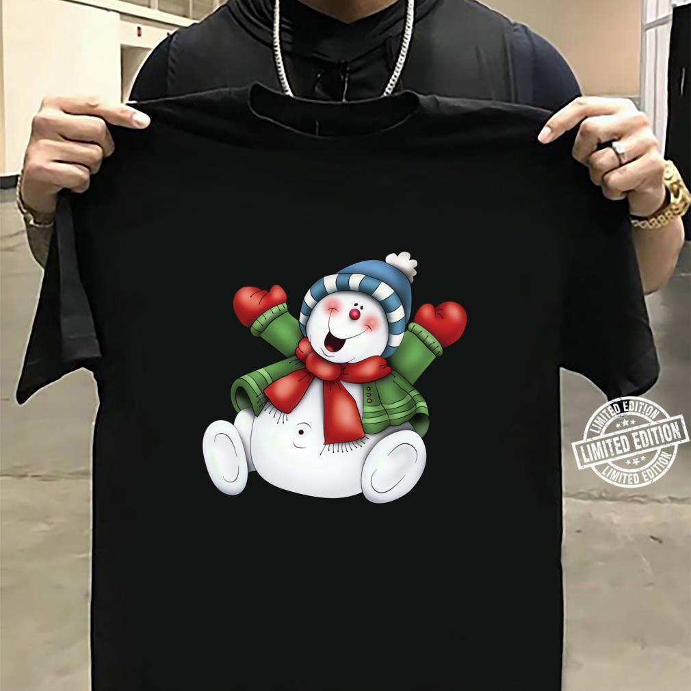 Schneemann niedlich frostig bleiben cool Urlaub Weihnachten Shirt sweater