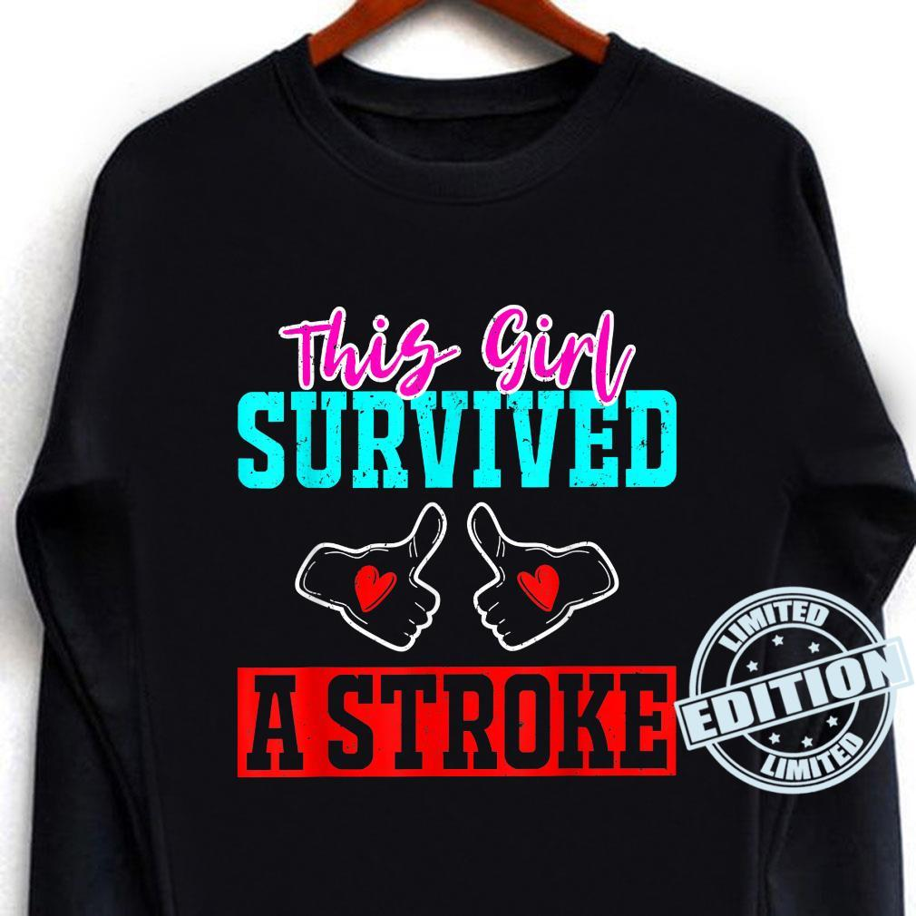 This Girl Survived a Stroke Survivor Recovery Mom Shirt long sleeved