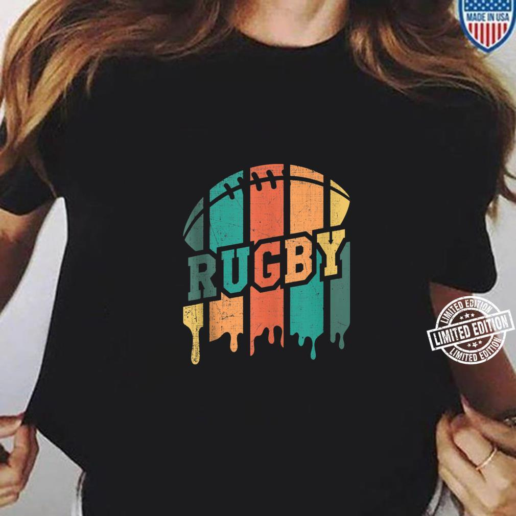 Vintage Retro Rugby Player Rugby Fan Rugby Coach Shirt ladies tee