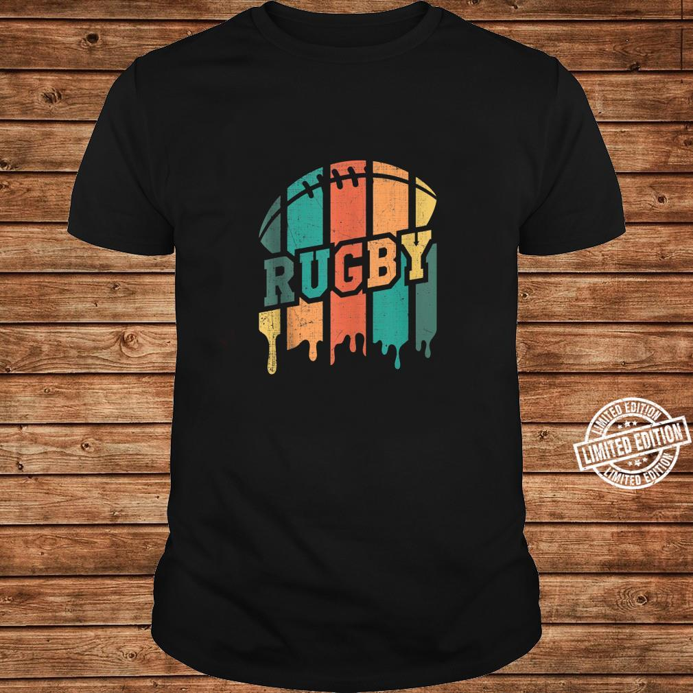 Vintage Retro Rugby Player Rugby Fan Rugby Coach Shirt long sleeved