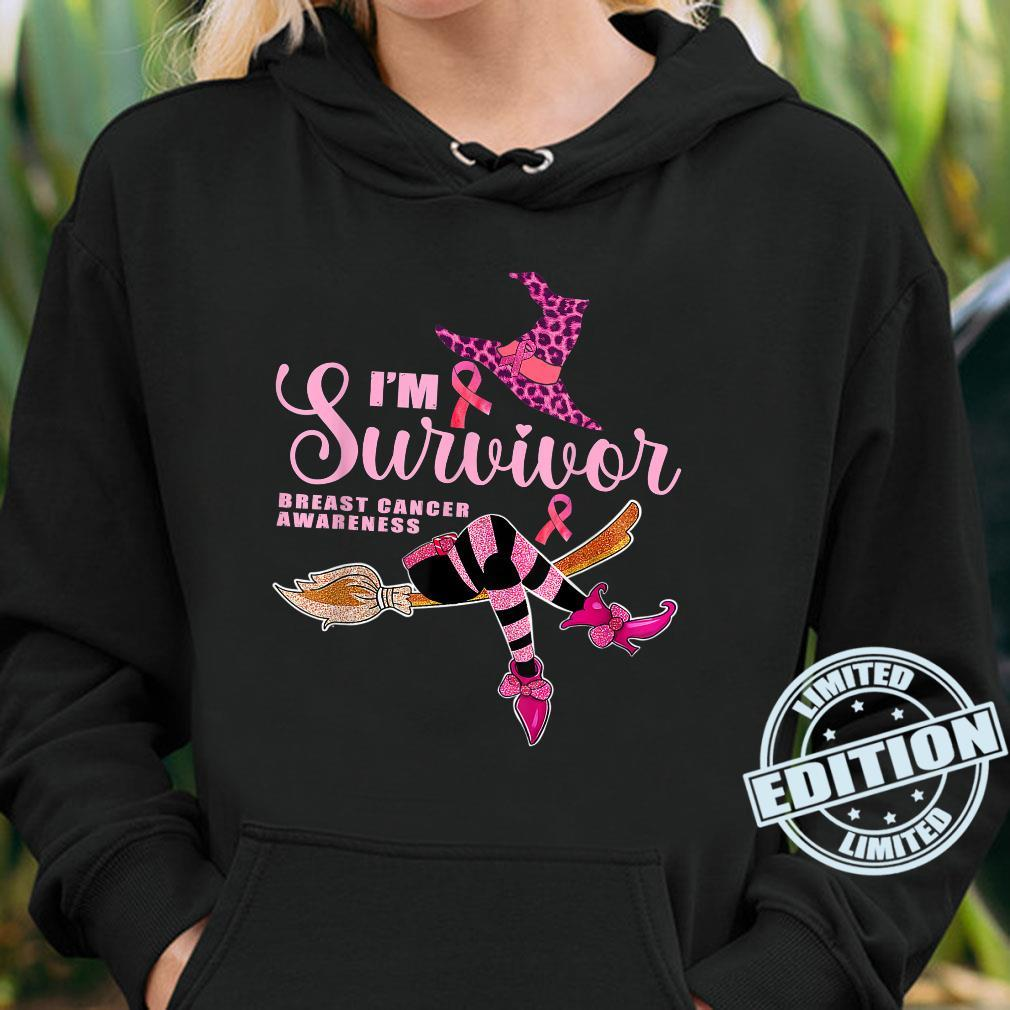 Witch I'm A Survivor Halloween Breast Cancer Aeness Shirt hoodie