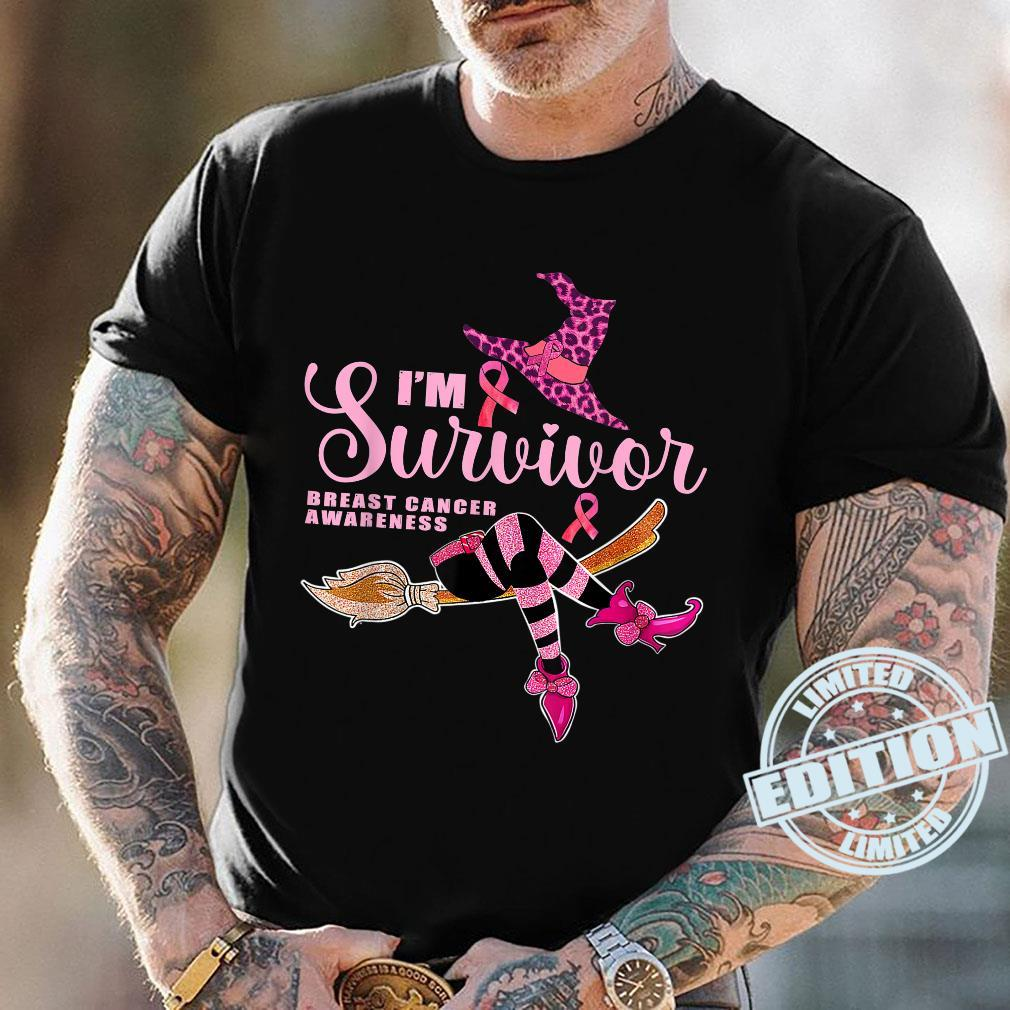 Witch I'm A Survivor Halloween Breast Cancer Aeness Shirt