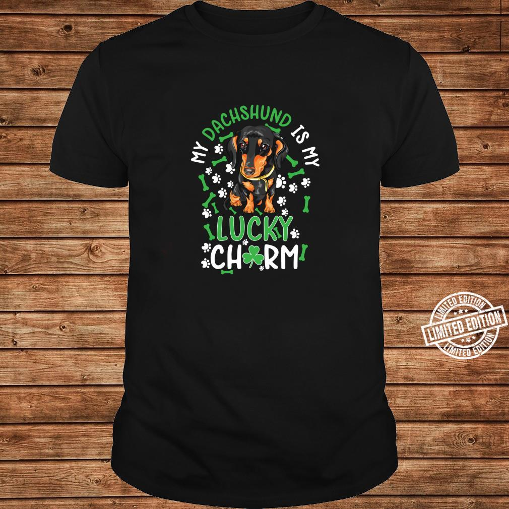 My Dachshund is My Lucky Charm paw dog st Patrick's day Shirt long sleeved