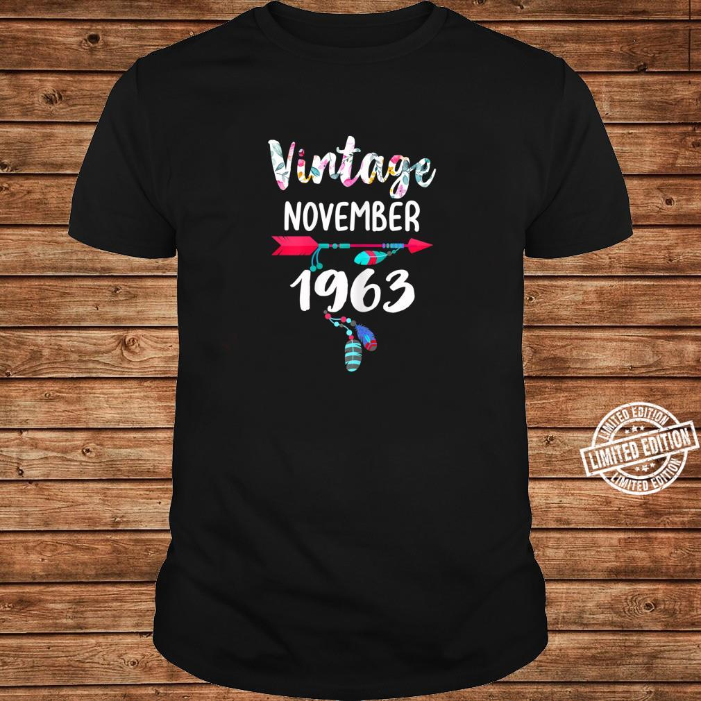 November Girls 1963 57th Years Old Vintage Since 1963 Shirt long sleeved